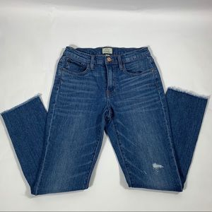 J Crew Slim Broken In Boyfriend Distressed Jeans